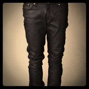 Other - Dry black heavy coated skInny rigid denim jeans